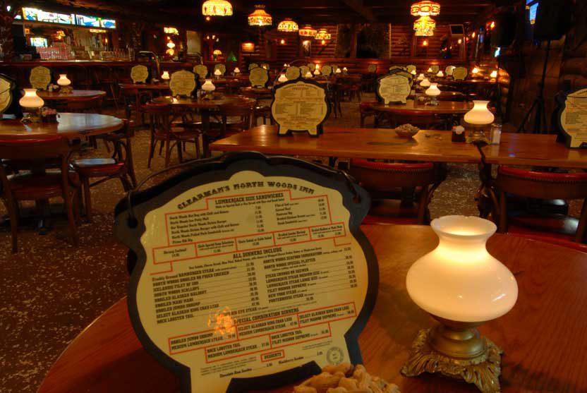 Close up of menu on table in the La Mirada restaurant