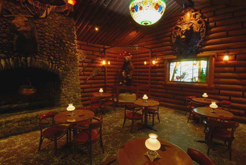Corner nook in the La Mirada restaurant