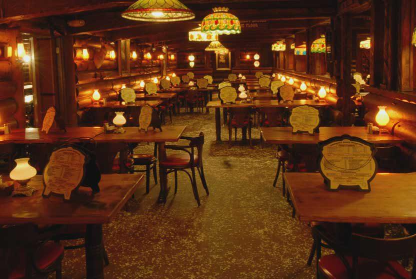San Gabriel Restaurant with peanuts on the floor